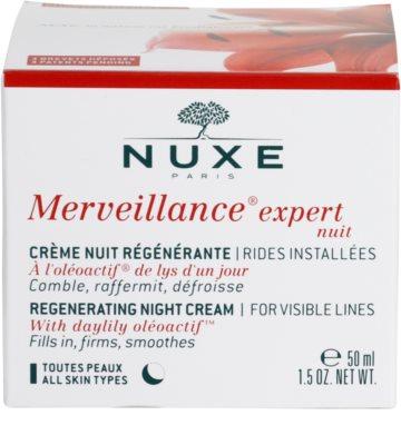 Nuxe Merveillance creme de noite regenerador  para todos os tipos de pele 4