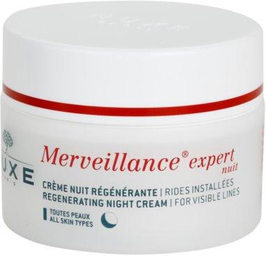 Nuxe Merveillance creme de noite regenerador  para todos os tipos de pele