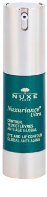 Nuxe Nuxuriance Ultra verjüngende Creme für die Konturen von Lippen und Augen gegen Falten, Schwellungen und Augenringe