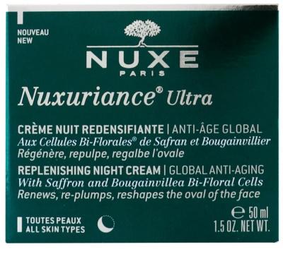 Nuxe Nuxuriance Ultra creme rejuvenescedor nutritivo de noite para todos os tipos de pele 2