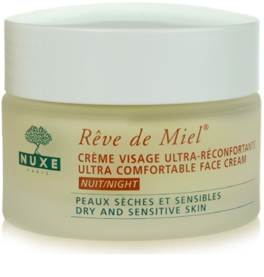 Nuxe Reve de Miel crema de noche nutritiva e hidratante para pieles secas