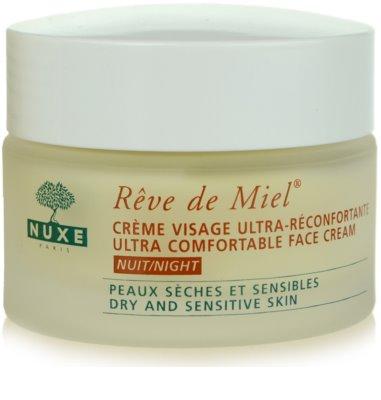 Nuxe Reve de Miel Feuchtigkeitsspendende Nachtcreme mit ernährender Wirkung für trockene Haut