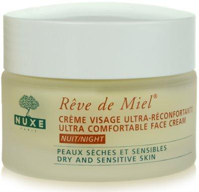 Nuxe Reve de Miel нощен обогатяващ и хидратиращ крем  за суха кожа