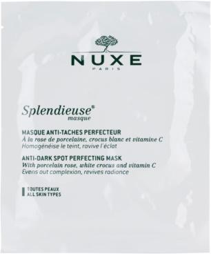 Nuxe Splendieuse maszk a pigment foltok ellen