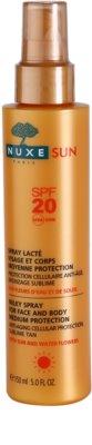 Nuxe Sun spray pentru bronzat SPF 20