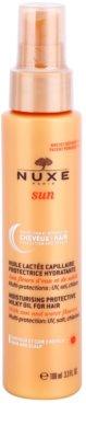 Nuxe Sun защитно масло с мляко за коса с хидратиращ ефект