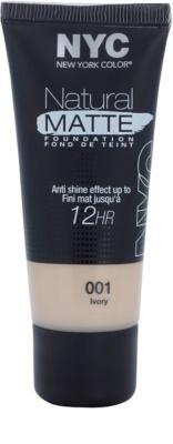 NYC Natural Matte 12H flüssiges Make up gegen glänzende Haut