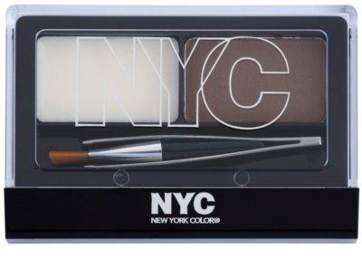 NYC Browser Brush-On set pentru sprancene perfecte 1