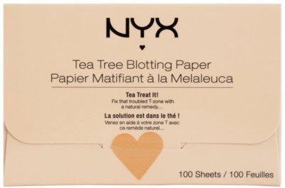 NYX Professional Makeup Blotting Paper papel matificante com chá de árvore