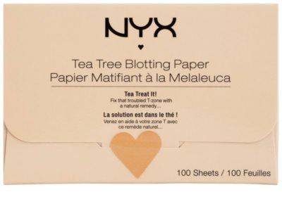 NYX Professional Makeup Blotting Paper матуючі серветки з екстрактом чайного дерева