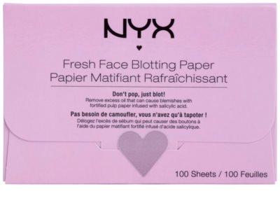 NYX Professional Makeup Blotting Paper papel matificante com ácido salicílico