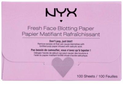 NYX Professional Makeup Blotting Paper servetele absorbante rogojină cu acid salicilic