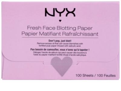 NYX Professional Makeup Blotting Paper листчета за матиране с хиалуронова киселина