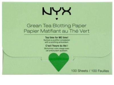 NYX Professional Makeup Blotting Paper papel matificante con té verde