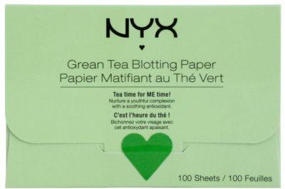 NYX Professional Makeup Blotting Paper матуючі серветки з зеленим чаєм