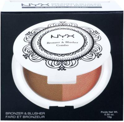 NYX Professional Makeup Bronzer & Blusher Combo autobronzant și blusher 2 in 1 2