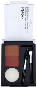 NYX Professional Makeup Eyebrow Cake Powder set pentru sprancene perfecte