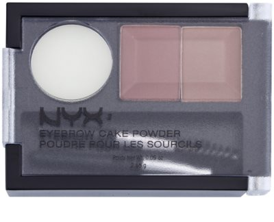 NYX Professional Makeup Eyebrow Cake Powder set pentru sprancene perfecte 1