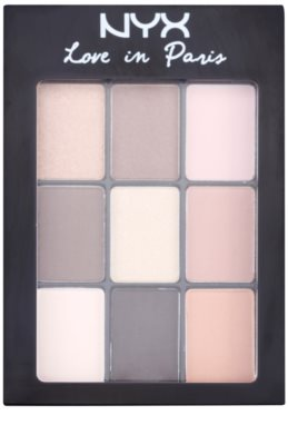 NYX Professional Makeup Love in Paris paleta de sombras  com aplicador 1
