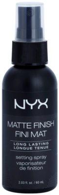 NYX Cosmetics Matte Finish спрей за фиксация с матиращ ефект