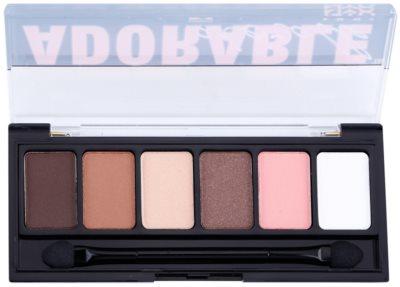 NYX Professional Makeup The Adorable paleta cieni do powiek z aplikatorem