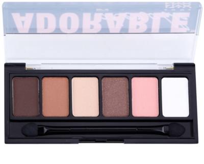 NYX Professional Makeup The Adorable paleta očních stínů s aplikátorem