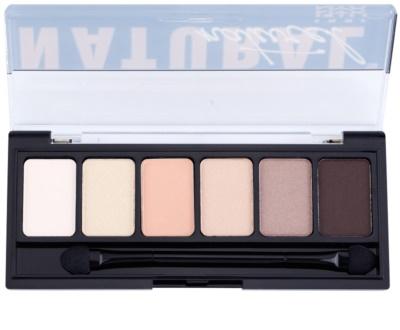 NYX Professional Makeup The Natural paleta de sombras  com aplicador