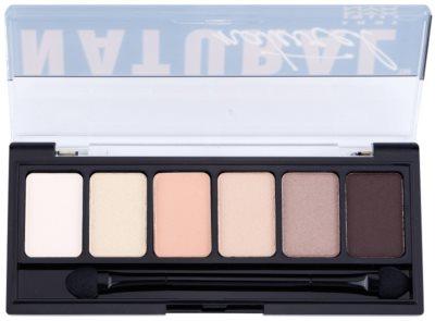 NYX Professional Makeup The Natural paleta senčil za oči z aplikatorjem