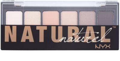 NYX Professional Makeup The Natural Palette mit Lidschatten mit einem  Applikator 1