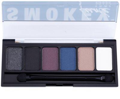 NYX Professional Makeup The Smokey Palette mit Lidschatten mit einem  Applikator