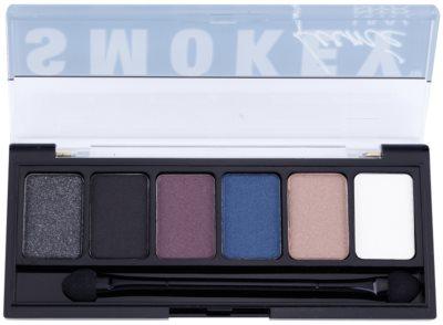 NYX Professional Makeup The Smokey szemhéjfesték paletták applikátorral