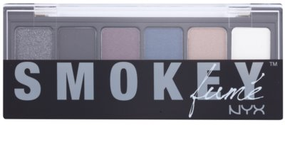 NYX Professional Makeup The Smokey paleta cieni do powiek z aplikatorem 1