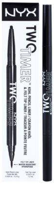 NYX Professional Makeup Two Timer eyeliner khol 2 in 1 3
