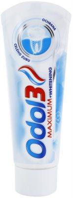 Odol 3  Maximum dentrífico para proteção total dos dentes com efeito branqueador