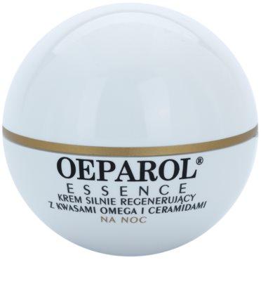 Oeparol Essence crema de noche regeneradora con ácidos grasos omega y cerámides para pieles secas y muy secas
