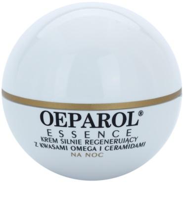 Oeparol Essence regenerierende Nachtcreme mit Omega-Fettsäuren und Ceramiden für trockene bis sehr trockene Haut