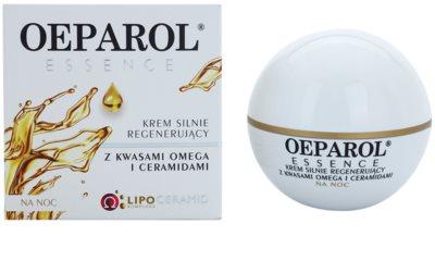 Oeparol Essence crema de noche regeneradora con ácidos grasos omega y cerámides para pieles secas y muy secas 1