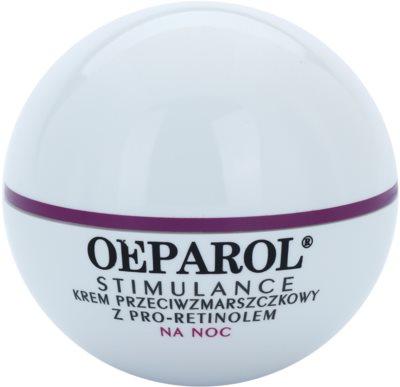 Oeparol Stimulance creme de noite antirrugas com Pró-Retinol para todos os tipos de pele