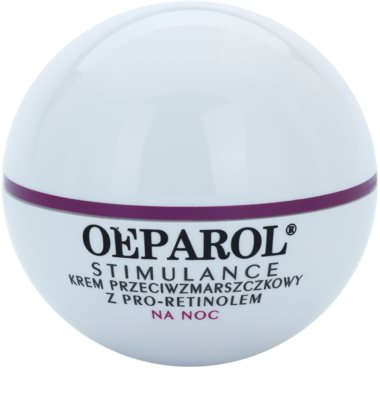 Oeparol Stimulance нощен противобръчков крем с Про-ретинол за всички типове кожа на лицето