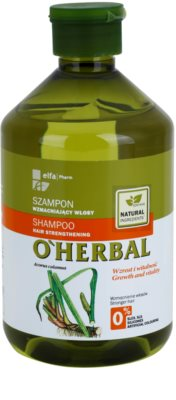 O'Herbal Acorus Calamus champú revitalizador para cabello debilitado
