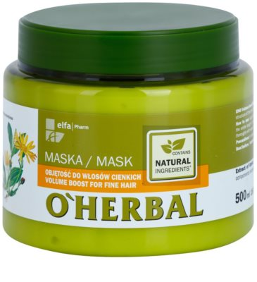 O'Herbal Arnica Montana маска для об'єму слабкого волосся