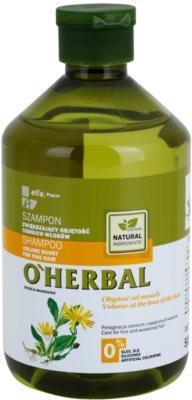 O'Herbal Arnica Montana шампунь для об'єму для тонкого волосся