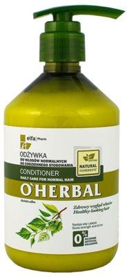 O'Herbal Betula Alba odżywka do codziennego stosowania do włosów normalnych
