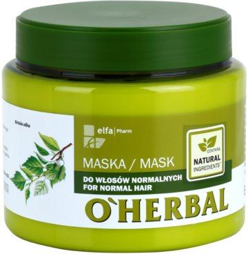 O'Herbal Betula Alba máscara para cabelo normal