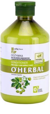 O'Herbal Humulus Lupulus balsam pentru par indisciplinat 1