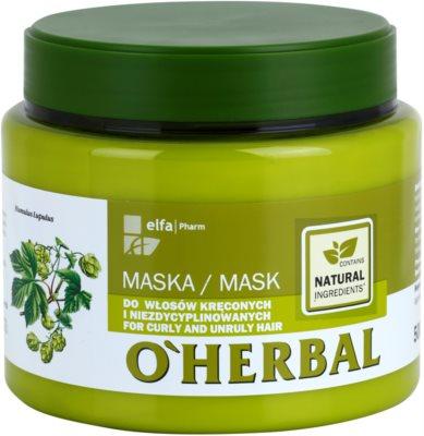 O'Herbal Humulus Lupulus masca pentru par indisciplinat