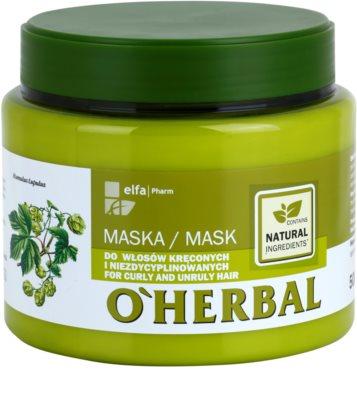 O'Herbal Humulus Lupulus маска  для неслухняного та кучерявого волосся