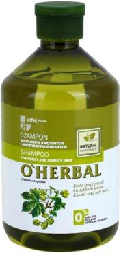 O'Herbal Humulus Lupulus champú para cabello encrespado y rebelde
