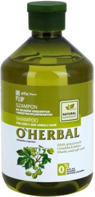 O'Herbal Humulus Lupulus šampon za neobvladljive lase