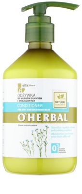 O'Herbal Linum Usitatissimum balzam za suhe in poškodovane lase